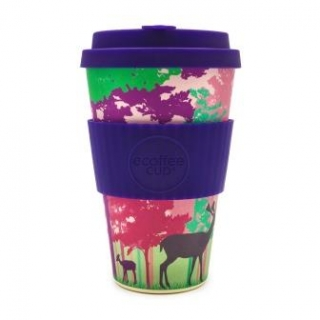 Ecoffee Cup Bambusový pohár  Frankly My Deer 0,4l