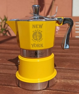 New York TOP Moka kávovar 3 porcie žltý