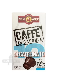 New York DECAFFEINATO kapsule 10ks